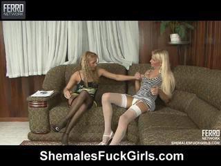 Mengen van movs door shemales stretch meisjes