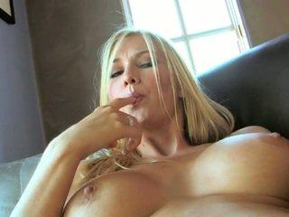 Idealne blondynka blake rose z duży melony i długo nogi