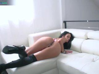 Hottie angelina valentine liebe groß schwarz cocks