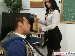 Morena profesora kendra lust gets facialized