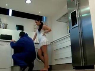 Slēpts kamera dangerous sieviete, plumber was captivated