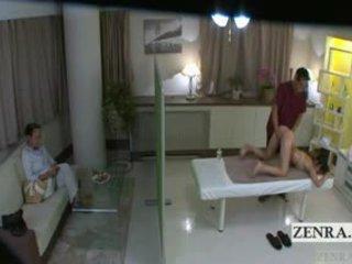 Subtitled japoniškas mokinukė idol hopeful užpakalis masažas