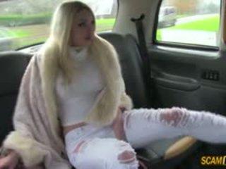 Sexy Euro Babe Tamara Hot Sex In Taxi