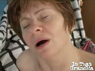 Nasty Redhead Granny Anna Masturbating...