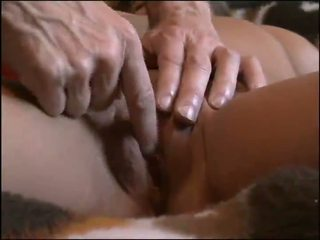 shaved pussy, big tits, fingering