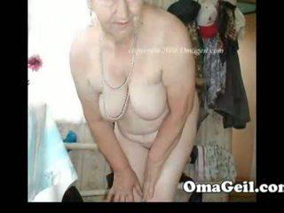 Omageil rondborstig grannies en rijpere vrouw