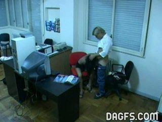 Office Bump Caught By Hidden Webcam