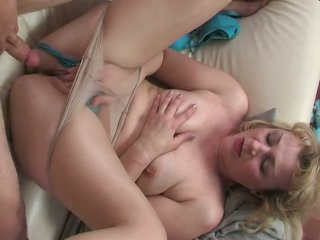 Russian mature in panty hardcore Video