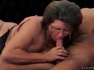 hq zuigen porno, mooi oud, plezier grootmoeder porno