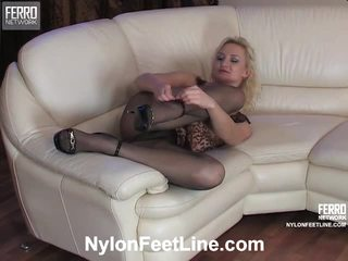 Caroline And Clifford Stockings Footsex Video