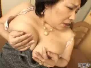 japanilainen, masturboi, kypsä, äiti