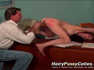 Anale vaginal & deri në fyt e pacensuruar veprim në kjo me lesh kuçkë flokëkuqe grua e pacensuruar film
