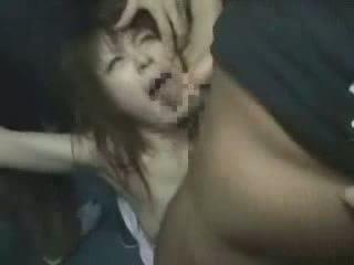 jepun, gadis, groped, brutally