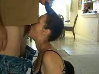 Brunette Facefucked by Husbands Video