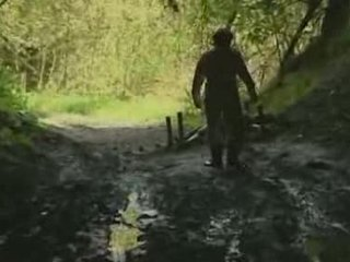 jente, skog, rape