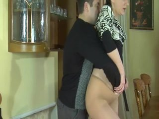 Brunette milf seduced by dude that bangs her