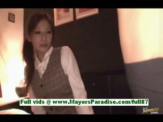 Marika sweet mature japanese slut in bed with two guys drinking