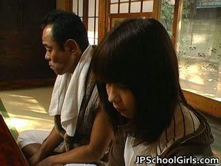 Haru sakuragi warga asia gadis sekolah has seks