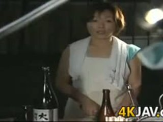 morena, japonês, boquete, maduro