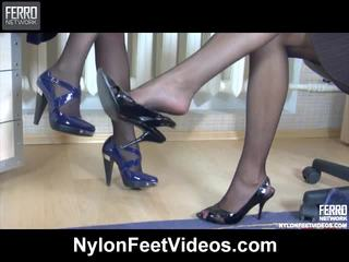 Nora And Paulina Kinky Stockings Feet Movie