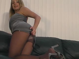 Sydney Moon Jerk Off Instruction Pantyhose Tights