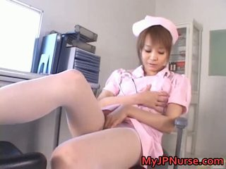 Awesome Asian Nurse Has Toy Penetration