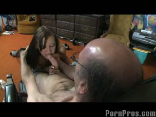 Jurassic Cock: Horny grandpa cock up for sweet brunette pussy Nicole Ray