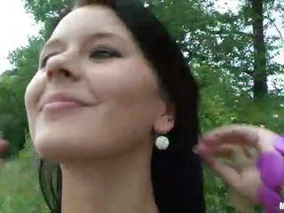 Big rack Czech girl Mia ripped in public