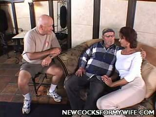 Naughty Wifes Home Movies Clip Presented By New Cocks For My Wife