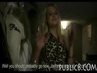 Filthy blond Czech girl in the club asshole pounded with stranger