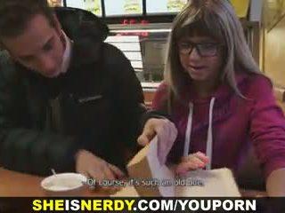 She Is Nerdy - Cum shower on her eyeglasses