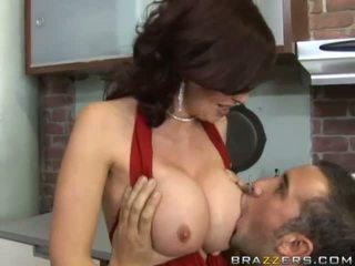 brunette thumbnail, hardcore sex scène, een grote lullen tube