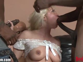 DevilsFilm Blonde Interracial GANGBANG