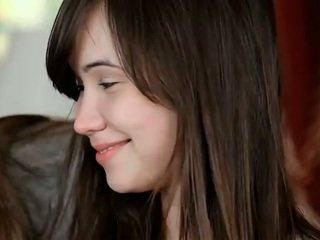 hq brunette scène, jong thumbnail, zien schoonheid gepost