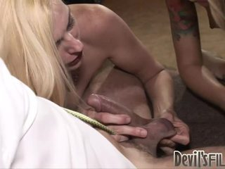 Hawt Blonde Milf Teaches Her Daughter How To Engulf A Nice Cock