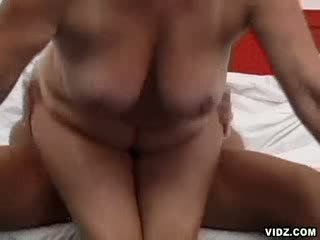 Nasty granny enjoys huge thick headed boner