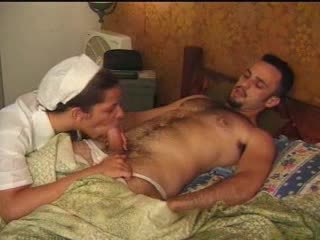 Sexual TS nurse and her patient role games