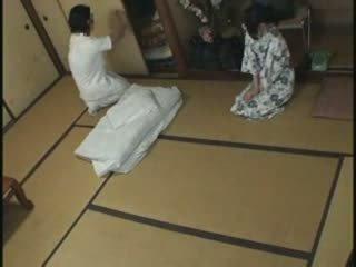 japonais, baise, massage, femme au foyer