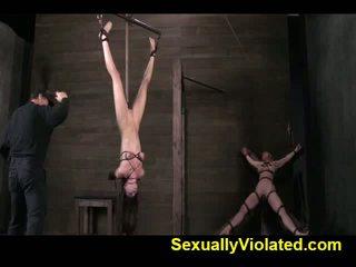 Casey Calvert is strung up and dildo fucked