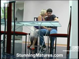 Margaret And Adam Leggy Milf In Activity