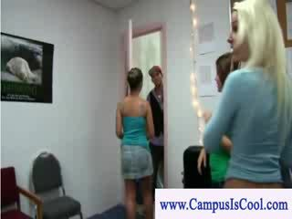 College rules wet shirt contest with chicks going wild