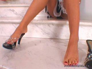 Saultry 아기 cory 아기 감 뜨거운 과 slutty 에 그만큼 바닥 와 그녀의 exposed 피트
