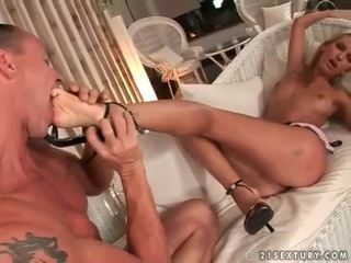 u voet fetish thumbnail, vol pornstar klem, heet sexy benen porno