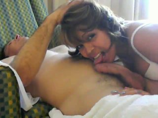 My wife blowing my friend Video