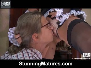 Dirty Aged In Kinky French Servant Uniform Has Made Love After Deepthroat Foreplay