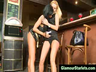 Naughty euro clothed fetish lesbians