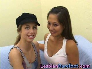 lesbische seks actie, ideaal likken likken en mor likken, voet fetish kanaal