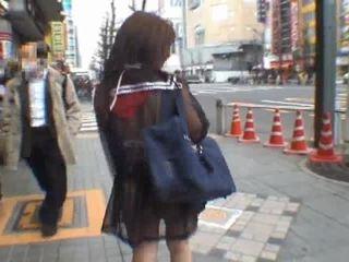 Mikan astonishing warga asia gadis sekolah enjoys awam