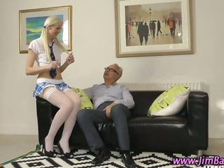 She is into old man dicks