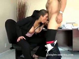 brunette Libre, blowjobs panoorin, pinaka- blow job